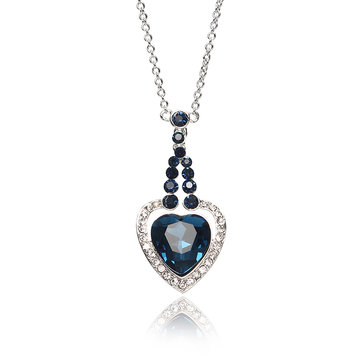 JASSY® Heart of Ocean Crystal Necklace