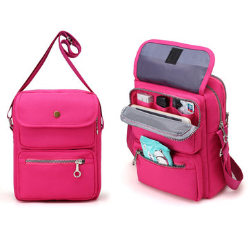 Women Nylon Travel Passport Bag Crossbody Travel Bag