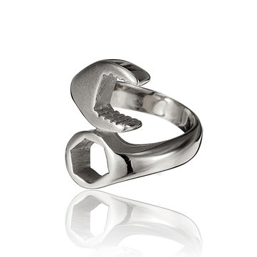 Punk Titanium Steel Spanner Ring