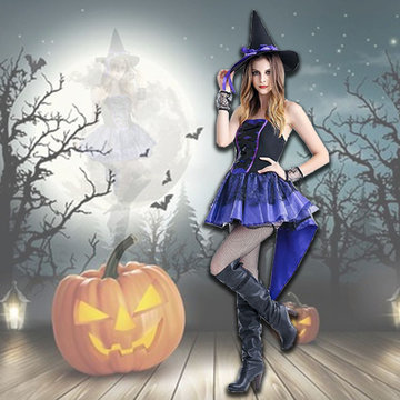 Halloween Sorceress Dress Costumes