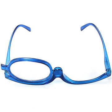 Blue Magnifying Glasses Makeup Reading Glass Folding Eyeglasses