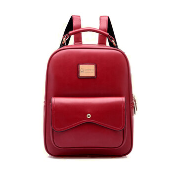 Stylish Elegant Candy Color PU Leather Backpack
