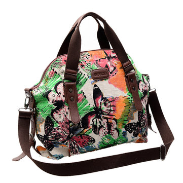 Women Large Capacity Flower Printing Casual Handbag Shoulder Bags Crossbody Bags