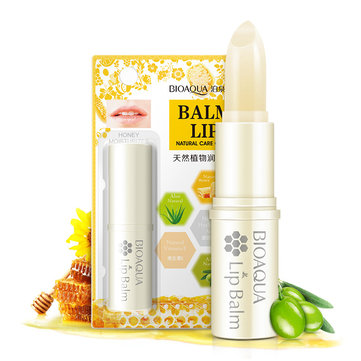 BIOAQUA Natural Honey Lip Balm Moisturizing Smooth Soft Nourish Lips Care