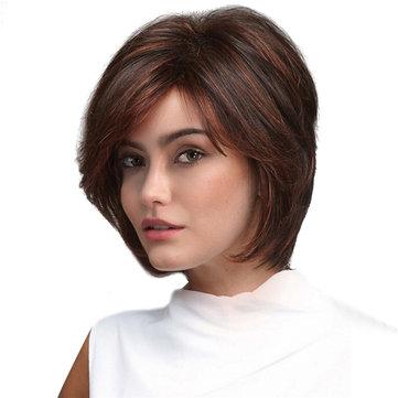 Короткие красные коричневые стильные волосы Синтетические парик волос