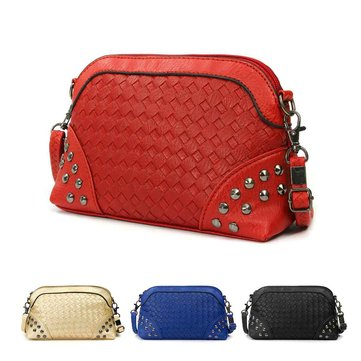 Fahsion Women Rivet Leather Crossbody Bag