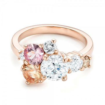 Sweet Colorful Zircon Ring