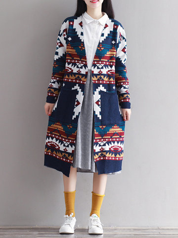 Women Printed Knitted Cardigans