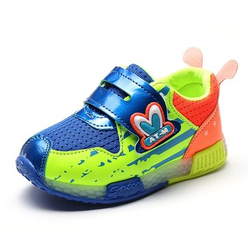 Kids Fashion Sneaker Sports Casual Flash Light Shoes