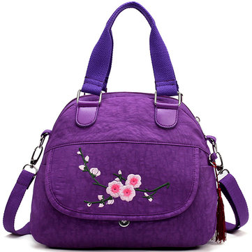 Flower Pattern Nylon National Style Handbag Shoulder Bag Crossbody Bag For Women