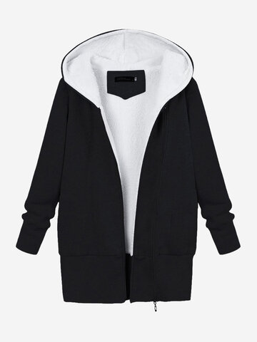 Women Thicken Warm Sweatshirt Coats