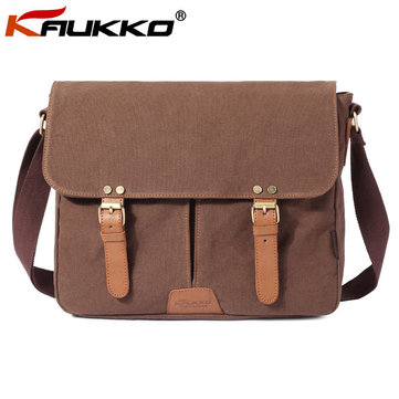 Brand KAUKKO Men Versatile Canvas Crossbody Bag Casual Shoulder Bag