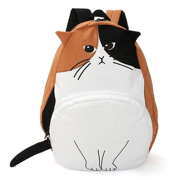 Womens Backpacks Lovely Cat Student Rucksack Travel School Bags