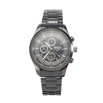 BOSCK Charming Stainless Steel Leather Watch