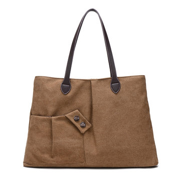 Canvas Casual Large Capacity Handbag Shoulder Bags For Women