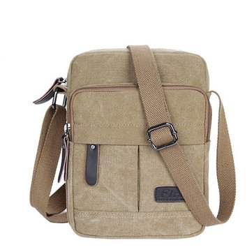 Men Casual Large Capacity Leisure Canvas Crossbody Bag Shoulder Bag