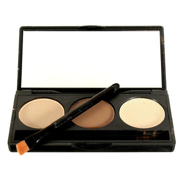 3 Colors Makeup Concealer Palette Face Facial Contour Powder Professional Beauty Cosmetic