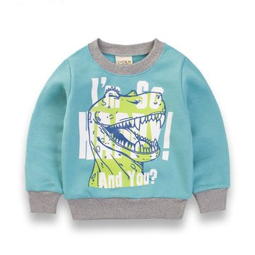 Boys Kids Animal Printing Patchwork Tops