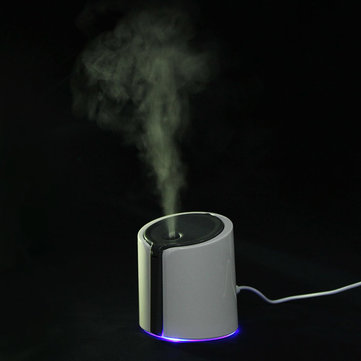 Portable Grey USB Mini Ultrasonic Air Purifier Humidifier Diffuser