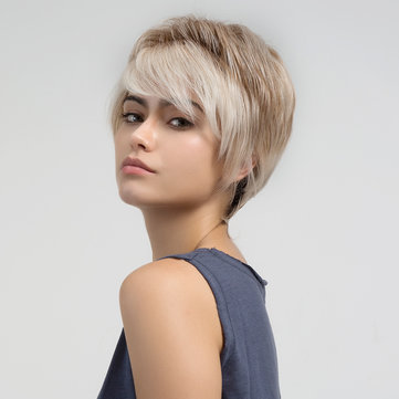 Linen Short Straight Human Hair Wig