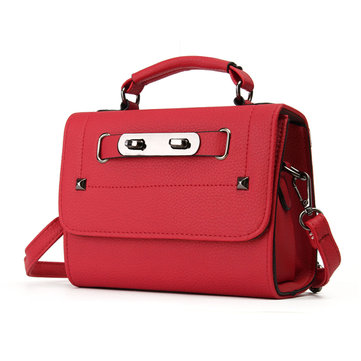 Women PU Leather Vintage Crossbody Bags Revit Mini Handbags