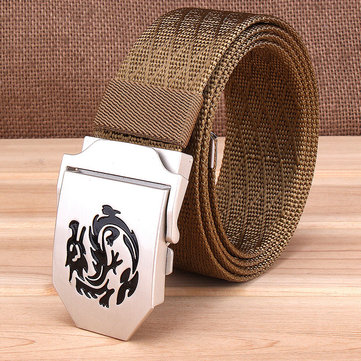 120CM Mens Nylon Alloy Smooth Buckle Military Tactical Belts Outdoor Casual Jeans Cinturones