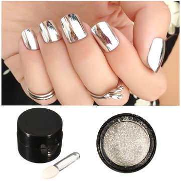 5g Silver Mirror Metallic Nail Powder Chrome Pigment Glitter Shining Dust Sequin