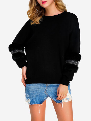 Pure Color Pullover Casual Sweaters