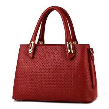 Women Cross Line Leather Handbag