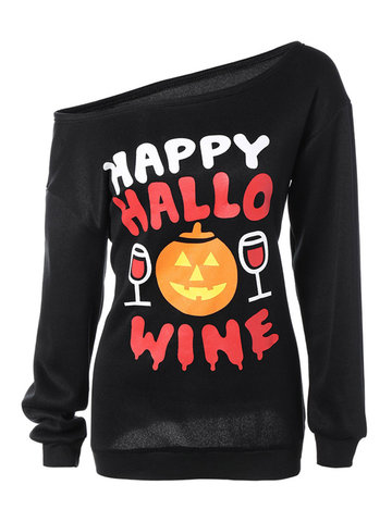 Halloween Printed Women Casual Hoodies