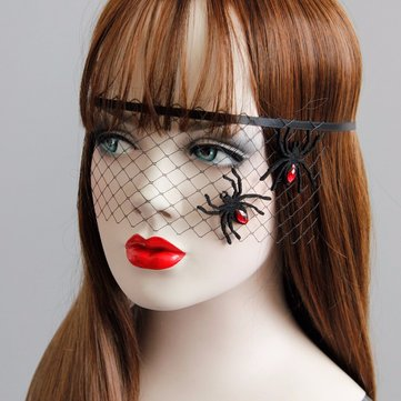 Cosplay Masquerade Mask Sexy Black Lace Spider Evil Mask