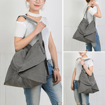 Women Canvas Irregularity Tote Bag Handbag Casual Shoulder Bag