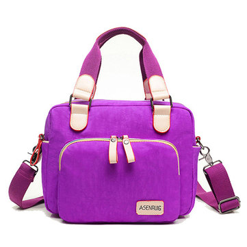 Casual Nylon Waterproof Tote Handbag Pattern Printing Shoulder Bag Crossbody Bags For Women