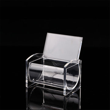 Clear Acrylic Cotton Swab Q-tip Storage Box Holder Cosmetic Makeup Case