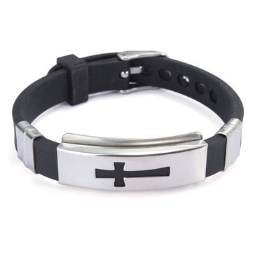 Punk Titanium steel Cross Bracelet