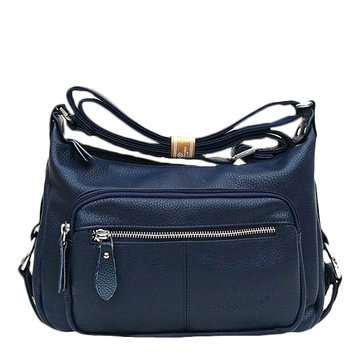 Women Vintage Genuine Leather Muli-pocket Portable Shoulder Bags Crossbody Bags