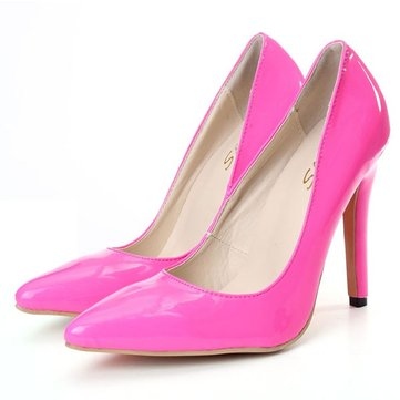 Buy Candy Color Pointed Toe Slip Office Lady Stiletto Heels High Heel Pumps