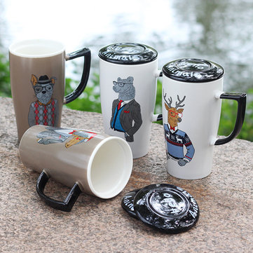 Creative Animal Cups Man Cup Ceramic Milk Tea Coffee Cups Drinkware with Lip