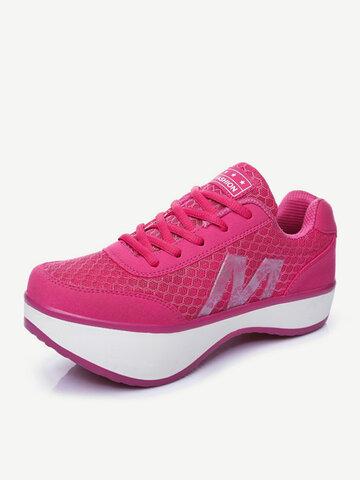 Одуванчик M Letter Platform Rocker Единственная встряска Спорт дышащая обувь