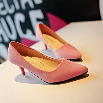 Направленный носок Чистый цвет скольжения на высоких каблуках