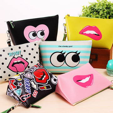 Waterproof Storage Cosmetic Bag Fashion Women PU Leather Makeup Travel Toiletry Organizer