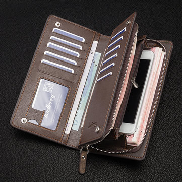 Men Business Wallet PU Multi-card Bit Phone Wallet For Iphone 6 Plus Samsung Xiaomi Huawei