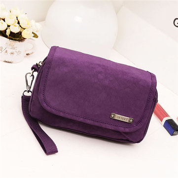 Women Men Nylon Lightweight Phone Bag Casual Portable Wallet Shoulder Bag Crossbody Bag