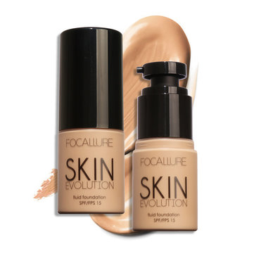 FOCALLURE Face Foundation Makeup Base Liquid Cream Concealer Moisturizer Oil-control Whitening Water