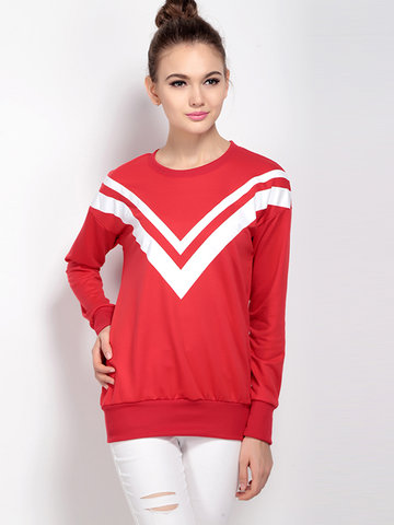 Sailor Collar Casual Long Sleeve Sweatshirt For Women
