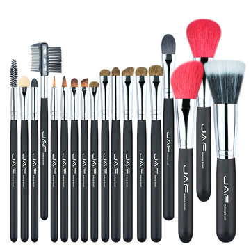 JAF 18Pcs Makeup Brushes Set Goat Horse Hair  Eye Shadow Blend Blush Cosmetic Tools