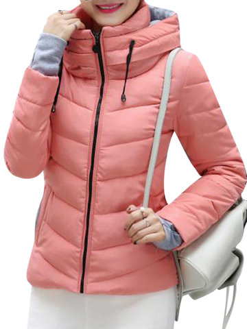 Casual Women Cotton-Padded Thick Coats