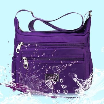 Women Casual Multi-pocket Nylon Waterproof Shoulder Bags Crossbody Bags