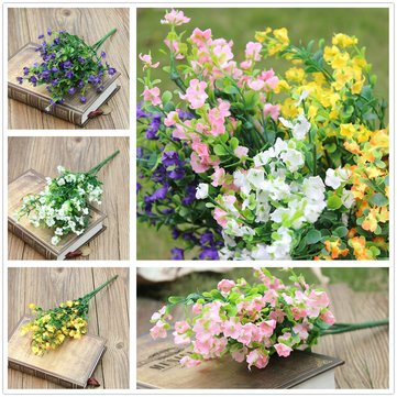 Buy Artificial Flower Gypsophila 1 Bouquet 6 Branches Wedding Party Home Decorations