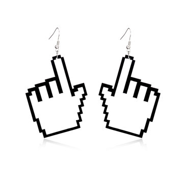 Women's Punk Earrings Hand Finger Acrylic Earrings